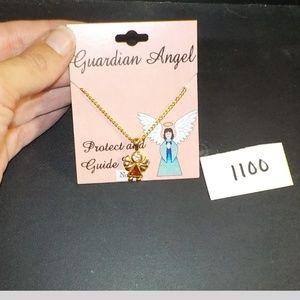 Guardian Angel November Birthstone Necklace New